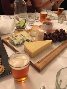 Cheeseboard at Sierra Nevada dinner at the White Horse Parson's Green