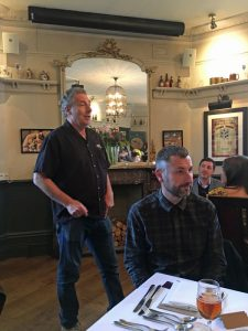 Steve Grossman at Sierra Nevada dinner at the White Horse Parson's Green