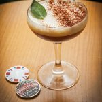 Fernet Branca cocktail with Challenge Coins