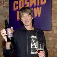 Professor Brian Cox discovers the world of brewing as he launches 'Cosmic Brew' at The Union Club on September 25, 2018 in London, England.