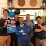 Winners of the PubAid World's Biggest Pub Quiz 2018 at the Three Moles, Selham, West Sussex