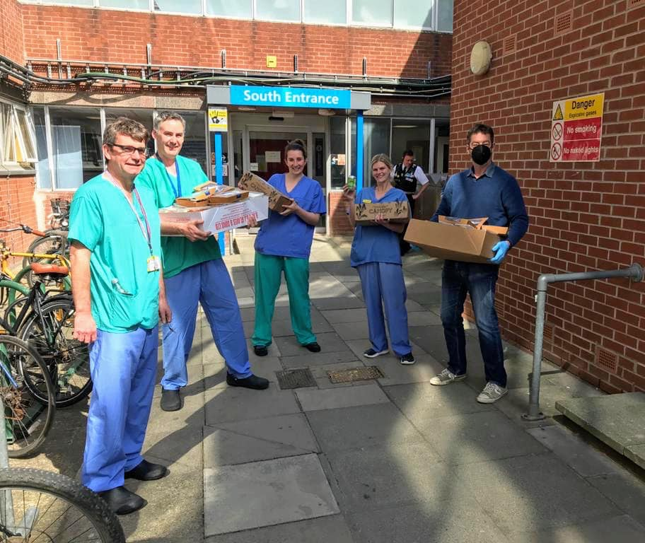 NHS workers receive meals prepared by The White Swan, Pickering