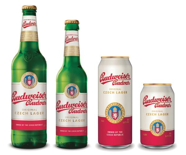 Budweiser Budvar revised design July 2020