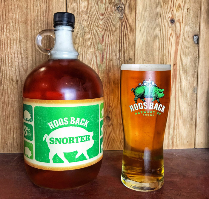 Surrey-based Hogs Back Brewery is offering the very freshest local draught beer to customers with the launch of the Snorter - its new, reusable, glass container.