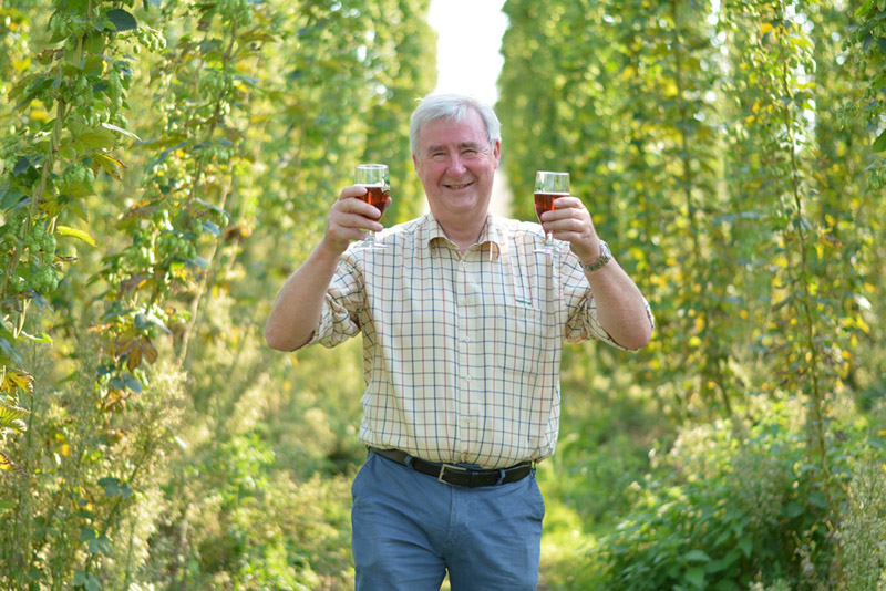 The Hogs Back Brewery hop garden in Tongham, Surrey, is to feature in Halloween on the Farm. after presenter Peter Wright spent a day at the brewery during the harvest.