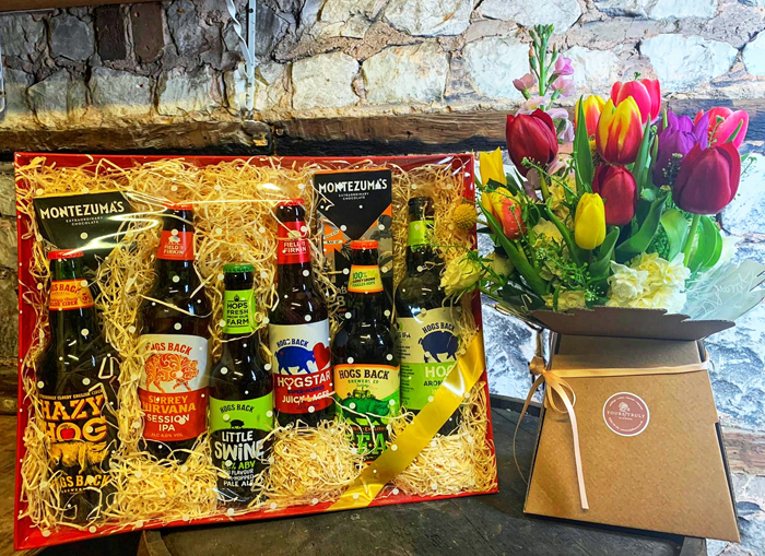 Hogs Back Brewery partners with florist to create fresh, local gift for special day