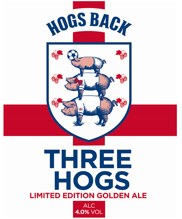 Surrey-based Hogs Back Brewery is following the Football Association's lead and launching a new, 'inclusive' badge for its popular Three Hogs beer, which is being brewed again for this summer's Euros.